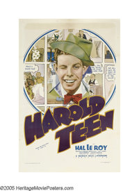 "Harold Teen (Warner Bos., 1934). One Sheet (27"" X 41""). Based on the 1920s comic strip character of the same n..."