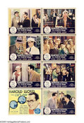 "Movie Posters:Comedy, The Cat's Paw (Fox, 1934). Lobby Card Set of 8 (11"" X 14""). Boththespian and producer Harold Lloyd was reportedly the only ... (8Items)"