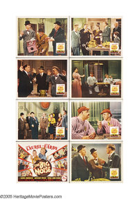 "Big Noise (20th Century Fox, 1944). Lobby Card Set of 8 (11"" X 14""). Wackiness ensues when two janitors -- Sta..."