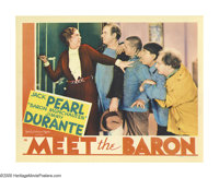 """Meet the Baron (MGM, 1933). Lobby Card (11"""" X 14""""). Hey, it's the Three Stooges for heaven's sake, with Ted He..."""