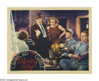 "Dancing Lady (MGM, 1933). Lobby Card (11"" X 14""). This amazingly rare Three Stooges card is the first film to..."