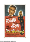 "Movie Posters:Film Noir, Dead Reckoning (Columbia, 1947). One Sheet (27"" X 41""). HumphreyBogart is cast opposite the sultry Lizabeth Scott in the cl..."