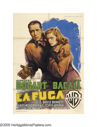 """Dark Passage (Warner Brothers, 1947). Italian (39"""" X 55""""). Nobody could paint Bogart's portrait better than Ma..."""