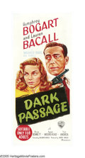 """Movie Posters:Film Noir, Dark Passage (Warner Brothers, 1947). Australian Daybill (13.5"""" X30""""). One of the most unique film noirs to come out of..."""