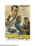 """Movie Posters:Film Noir, Key Largo (Warner Brothers, 1950 First German Release). German(23.5"""" X 33""""). Humphrey Bogart was at his cynical best when h..."""