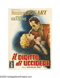 """In a Lonely Place (Columbia, 1950). Italian (39"""" X 55""""). Nicholas Ray, the director who would bring us James D..."""