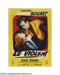 """In a Lonely Place (Columbia, 1950). French (47"""" X 63""""). Gloria Grahame portrays the secretary of a troubled wr..."""
