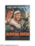 "Movie Posters:Adventure, The African Queen (United Artists, 1952). German One Sheet (24"" X33.5""). This very scarce German poster uses art by Rehak t..."