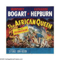 "Movie Posters:Adventure, The African Queen (United Artists, 1952). Six Sheet (81"" X 81"").This poster takes your breath away! Humphrey Bogart and Kat..."