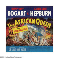 "The African Queen (United Artists, 1952). Six Sheet (81"" X 81""). This poster takes your breath away! Humphrey..."
