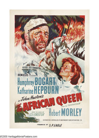 "The African Queen (Independent Film Distribution, 1952). British One Sheet (27"" X 40""). Fantastic graphics and..."