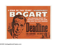 """Deadline, U.S.A. (20th Century Fox, 1952). British Quad (40"""" X 30""""). As a direct result of the HUAC investigat..."""