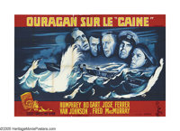 """Caine Mutiny (Columbia, 1954). French (63"""" X 94""""). Humphrey Bogart leads an all-star cast in this adaptation o..."""