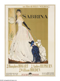 "Sabrina (Paramount, 1954). Italian (55"" X 78""). Audrey Hepburn gave one of the best performances of her career..."