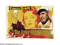 """The Left Hand of God (20th Century Fox, 1955). German (33"""" X 48""""). In this tale set during WWII, Humphrey Boga..."""