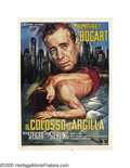 """Movie Posters:Film Noir, The Harder They Fall (Columbia, 1956). Italian (55"""" X 78"""").Humphrey Bogart stars in this picture that exposes the seedy sid..."""