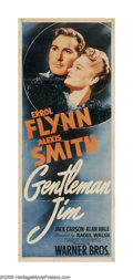"""Movie Posters:Sports, Gentleman Jim (Warner Brothers, 1942). Insert (14"""" X 36""""). Jim Corbett introduced scientific methods to bare-knuckle boxing,..."""