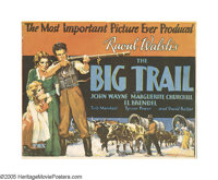 """The Big Trail (Fox, 1930). Title Lobby Card (11"""" X 14""""). The tagline """"The Most Important Film Ever Produc..."""