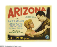 """Arizona (Columbia, 1931). Title Lobby Card (11"""" X 14""""). Made the year after """"The Big Trail"""" and befo..."""
