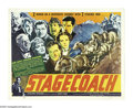 "Movie Posters:Western, Stagecoach (United Artists, 1939). Half Sheet (22"" X 28"").Relegated to second-bill Westerns for the first ten years of his..."