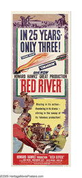 """Movie Posters:Western, Red River (United Artists, 1948). Insert (14"""" X 36""""). John Wayne dreams big in this tale of the opening of the Chisholm Trai..."""