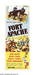 """Movie Posters:Western, Fort Apache (RKO, 1948). Insert (14"""" X 36""""). John Ford, one of theprimary forces for developing the mystique of the Western..."""