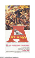 "Movie Posters:Western, The Alamo (United Artists, 1960). Three Sheet (41"" X 81"") Roadshow.""Some words can give you a feeling that makes your heart..."