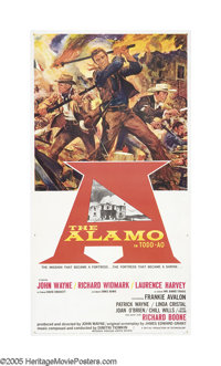 """The Alamo (United Artists, 1960). Three Sheet (41"""" X 81"""") Roadshow. """"Some words can give you a feeling th..."""