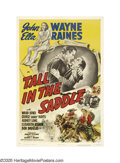 "Movie Posters:Western, Tall in the Saddle (RKO, 1944). One Sheet (27"" X 41""). John Wayneportrays Rocklin, a cowboy who arrives at a ranch to take ..."