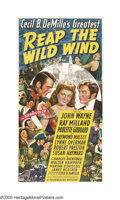 "Movie Posters:Adventure, Reap the Wild Wind (Paramount, 1942). Three Sheet (41"" X 81"").Cecil B. DeMille brought this sea-faring tale to the big scre..."