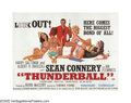 "Movie Posters:Action, Thunderball (United Artists, 1965). British Quad (30"" X 40"").S.P.E.C.T.R.E returns to menace James Bond in the superspy's f..."