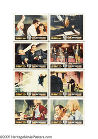 "Goldfinger (United Artists, 1964). Lobby Card Set of 8 (11"" X 14""). They say that ""the third time is alwa..."