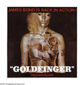 "Movie Posters:Action, Goldfinger (United Artists, 1964). Six Sheet (81"" X 81""). Bond'sthird adventure, this film set the standard for every Bond ..."