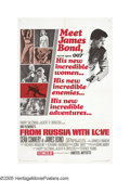 """Movie Posters:Action, From Russia With Love (United Artists, 1963). One Sheet (27"""" X41""""). Sean Connery stars as James Bond in the second film of ..."""