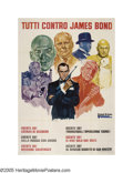 "Movie Posters:Action, Everybody Against James Bond (United Artists, 1972). Italian (55"" X 79""). By the early 1970s United Artists really made a pu..."