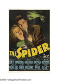 "Movie Posters:Mystery, The Spider (20th Century Fox, 1945). One Sheet (27"" X 41""). Acarnival psychic hires a detective to help her find her long-l..."