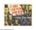 "Movie Posters:Mystery, And Then There Were None (20th Century Fox, 1945). Title Lobby Cardand Scene Card (11"" X 14""). An Agatha Christie tale told... (2items)"