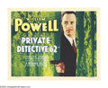 "Movie Posters:Crime, Private Detective 62 (Warner Brothers, 1933). Title Lobby Card (11""X 14""). This depression-era crime drama pits William Pow..."
