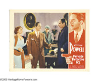 "Private Detective 62 (Warner Brothers, 1933). Lobby Card (11"" X 14""). William Powell clears girlfriend/sociali..."