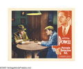 "Movie Posters:Crime, Private Detective 62 (Warner Brothers, 1933). Lobby Card (11"" X14""). William Powell finds himself on the right side of the ..."