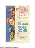 "Movie Posters:Mystery, The Thin Man Goes Home (MGM, 1945). One Sheet (27"" X 41""). This entry was the fifth in the always favorite ""Thin Man"" series..."
