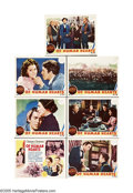 """Movie Posters:Drama, Of Human Hearts (MGM, 1938). Title Card and Lobby Cards (6) (11"""" X14""""). MGM garnered early interest in this Clarence Brown ... (7Items)"""