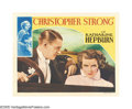"Movie Posters:Drama, Christopher Strong (RKO, 1933). Lobby Card (11"" X 14""). With thisfilm, young Katharine Hepburn (in her second film, but fir..."