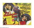 "Movie Posters:Romance, The Philadelphia Story (MGM, 1940). Half Sheet (22"" X 28""). For 60 years, this comedy's regard has risen from ""acclaimed"" to..."