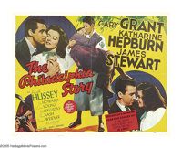 """The Philadelphia Story (MGM, 1940). Half Sheet (22"""" X 28""""). For 60 years, this comedy's regard has risen from..."""