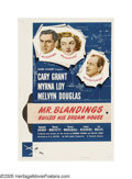 "Movie Posters:Comedy, Mr. Blandings Builds His Dream House (RKO, 1948). One Sheet (27"" X41""). Cary Grant and Myrna Loy decide to move from their ..."