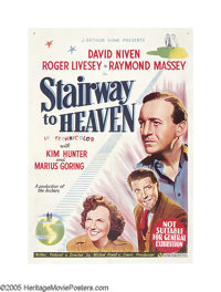 "Stairway to Heaven (Eagle Lion, 1946). Australian One Sheet (27"" X 41""). More famous today as ""A Matter o..."