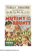 """Movie Posters:Drama, Mutiny On The Bounty (MGM, 1935). Window Card (14"""" X 22""""). """"I'll live to see you -- all of you -- hung from the highest yard..."""