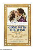 "Movie Posters:Academy Award Winner, Gone With the Wind (MGM, 1940-41). One Sheet (27"" X 41""). ClarkGable and Vivien Leigh star in one of the most important pic..."