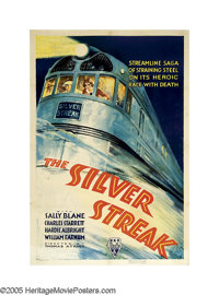 """The Silver Streak (RKO, 1934). One Sheet (27"""" X 41""""). Certainly not to be confused with the Gene Wilder versio..."""